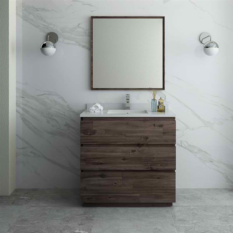 "Fresca Formosa 36"" Floor Standing Modern Bathroom Vanity w/ Mirror"