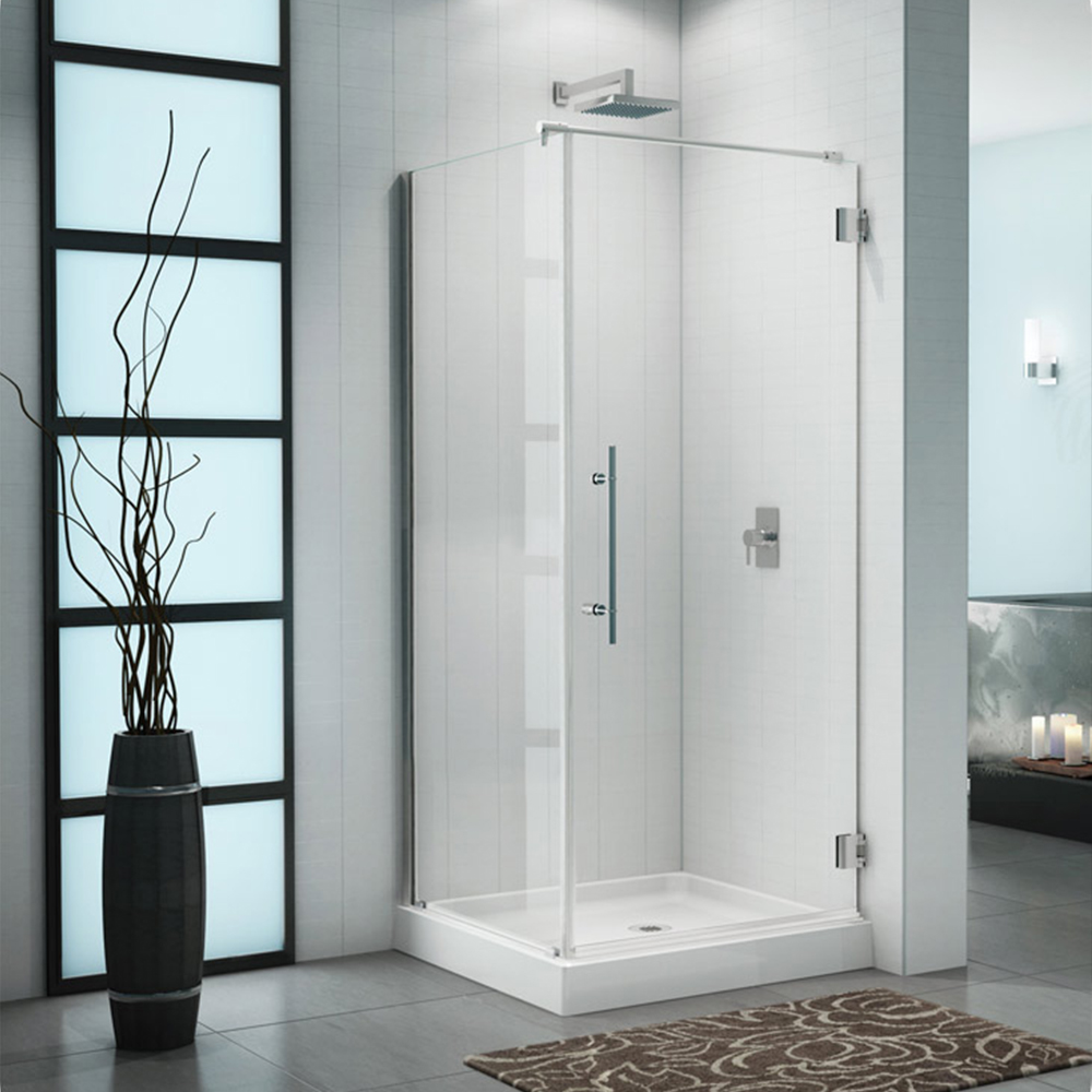 Fleurco Platinum Cube Shower Door with Standard Return Panel and Wall Mount Hinges