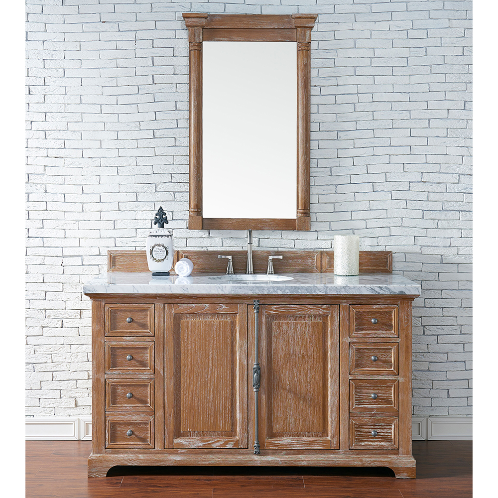 "James Martin Providence Collection 60"" Single Vanity Cabinet, Driftwood Finish"
