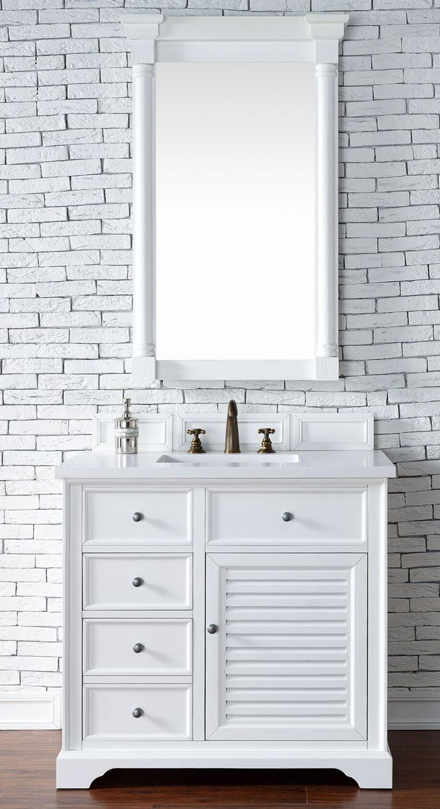 "James Martin Savannah Collection 36"" Cottage White Single Vanity Cabinet"