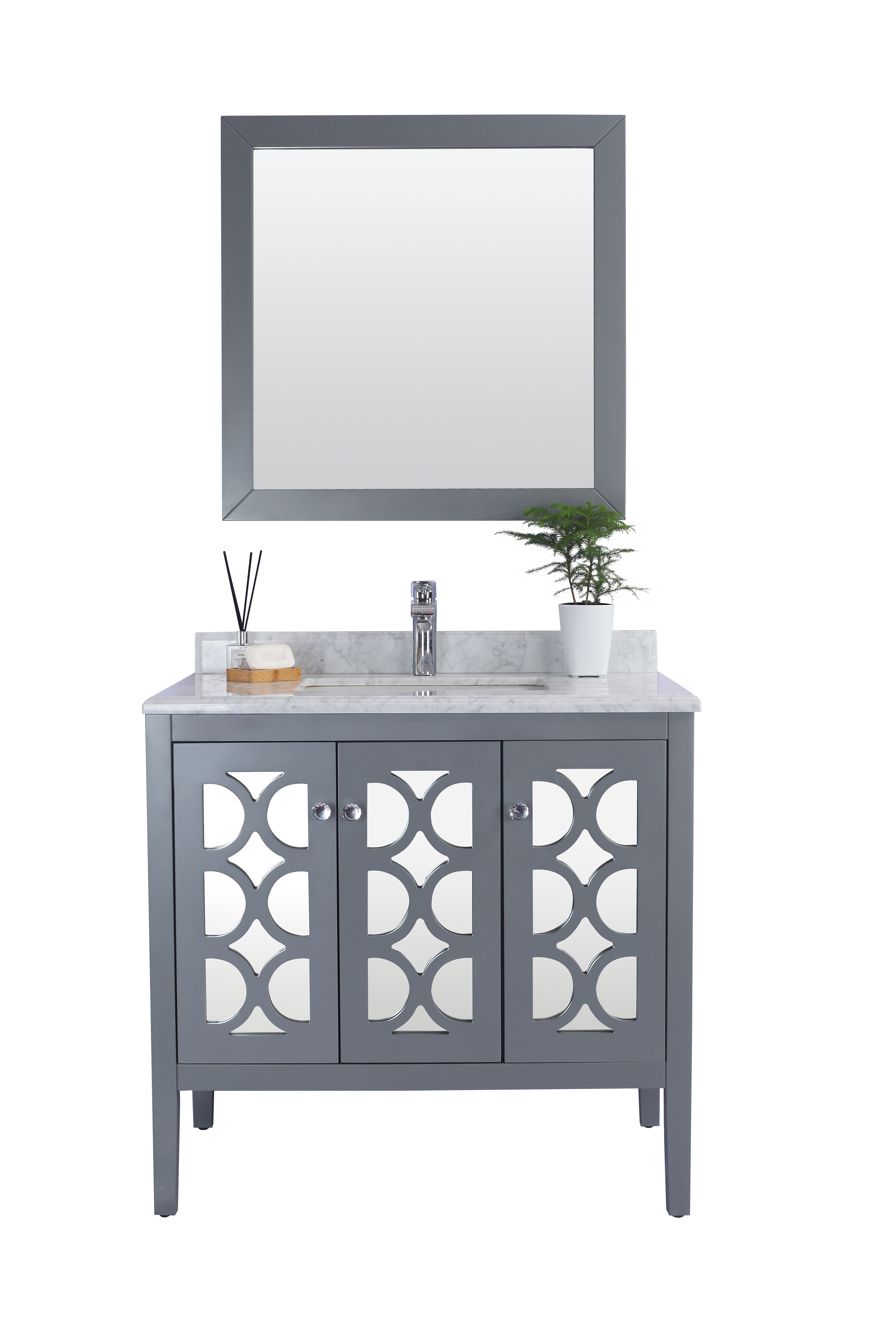 "36"" Single Bathroom Vanity Cabinet with Top and Color Options"