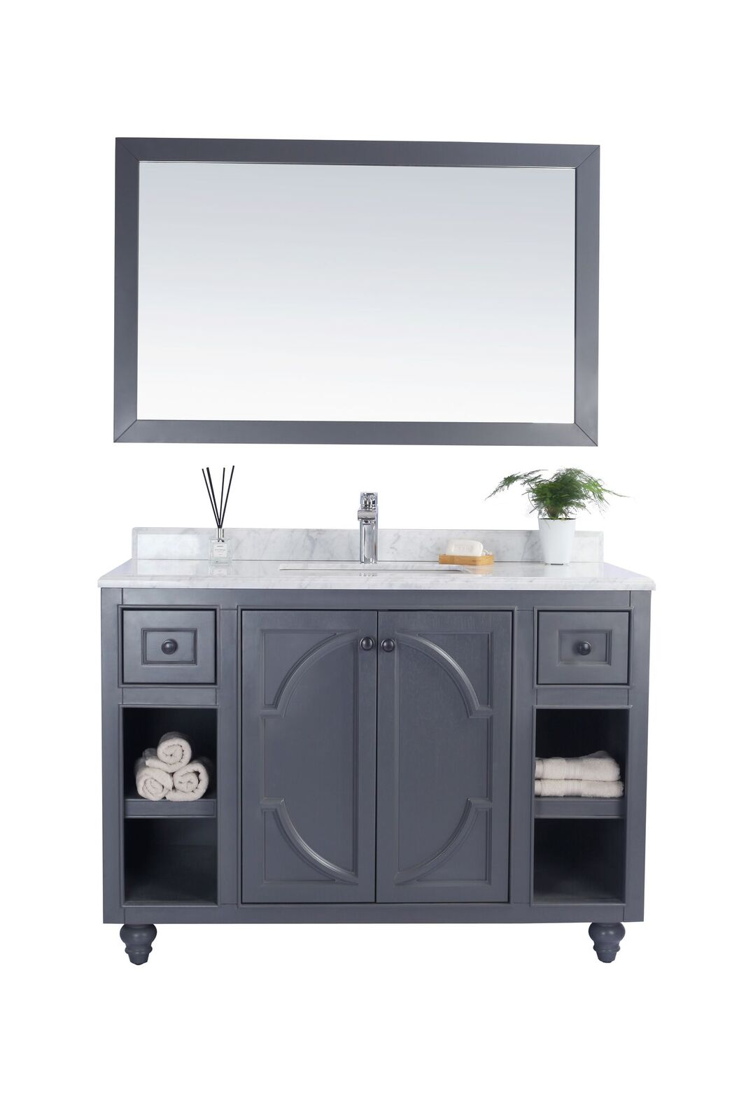 "48"" Single Bathroom Vanity Cabinet + Top and Color Options"