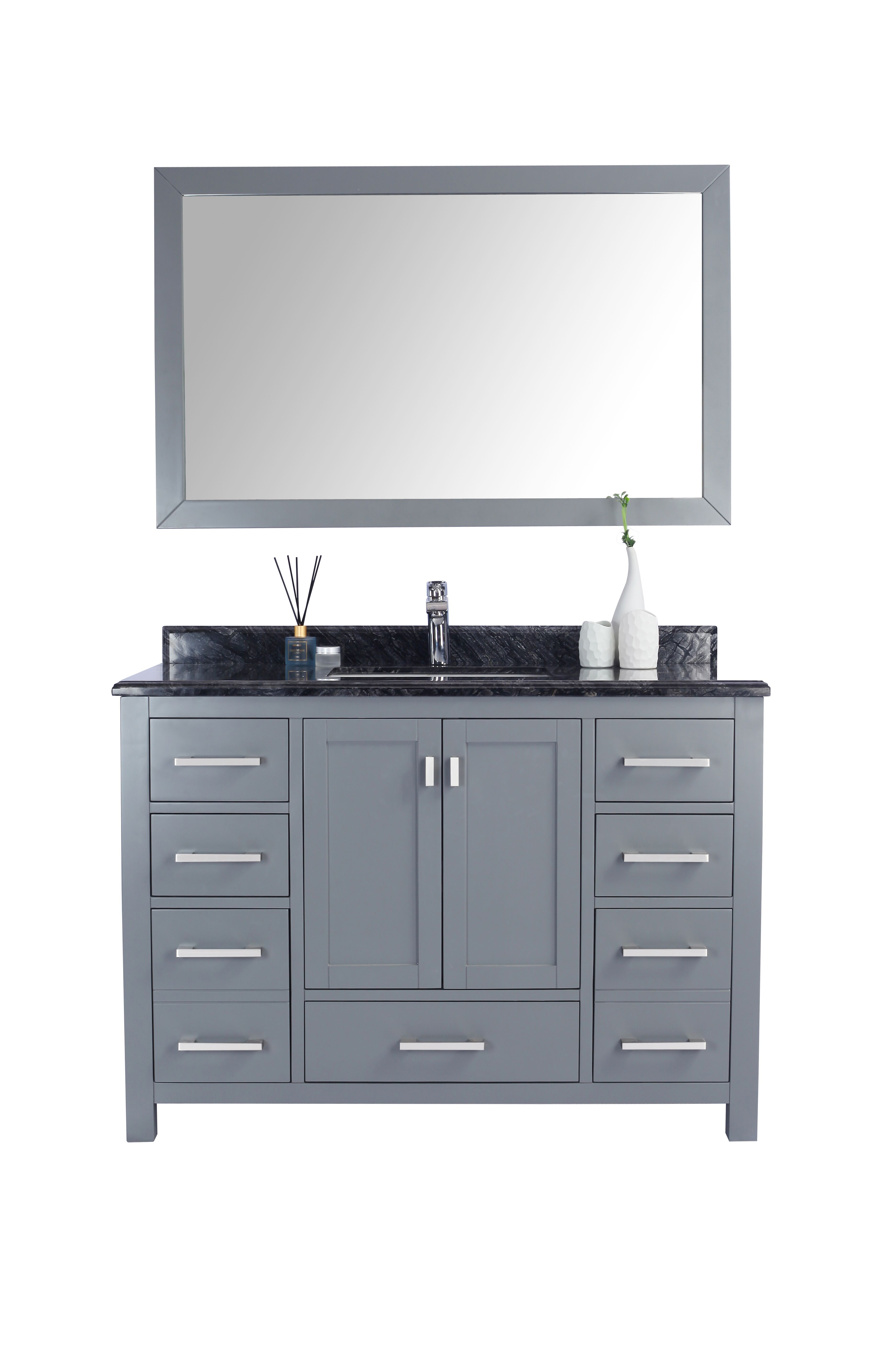 "48"" Single Sink Bathroom Vanity Cabinet + Top and Color Options"
