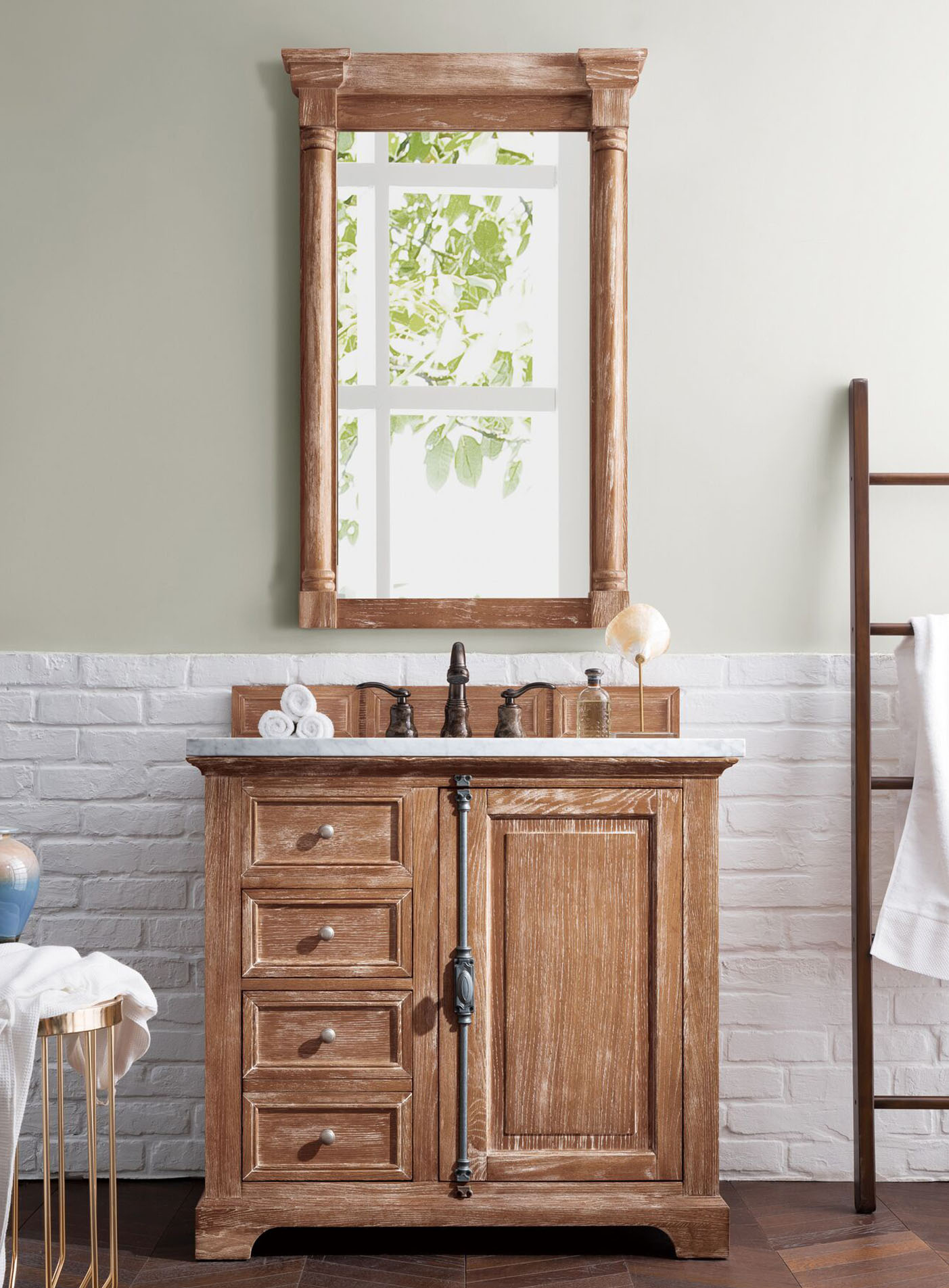 "James Martin Providence Collection 36"" Single Vanity Cabinet, Driftwood Finish"