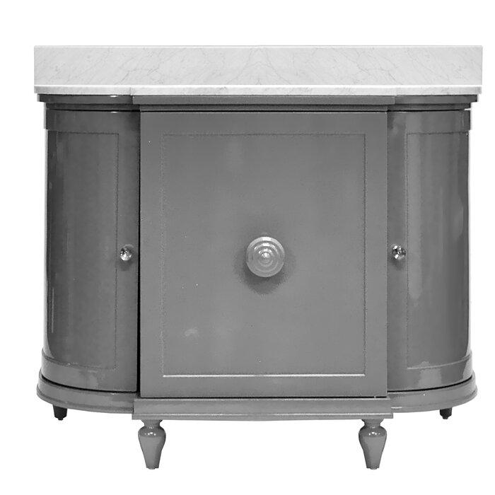 """43"""" Single Bathroom Vanity Set in Carrara White Marble Top"""