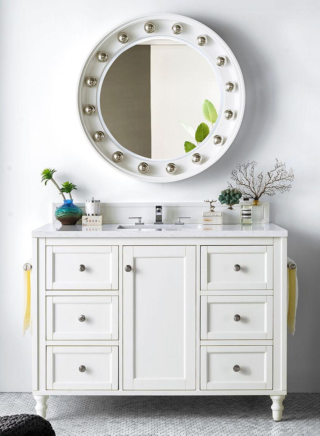 """James Martin Copper Cove Encore Collection 48"""" Single Vanity, Bright White Finish"""
