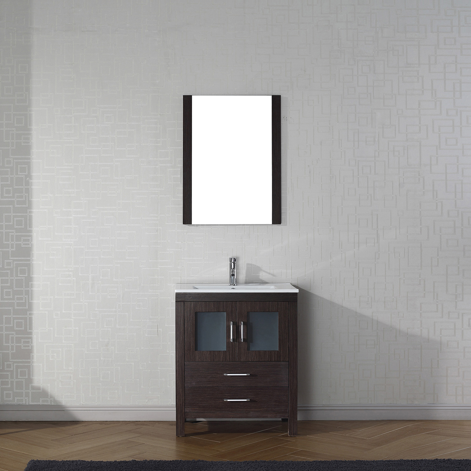 "28"" Cabinet Only in Espresso with Top, Faucet, Mirror and Sink Options"