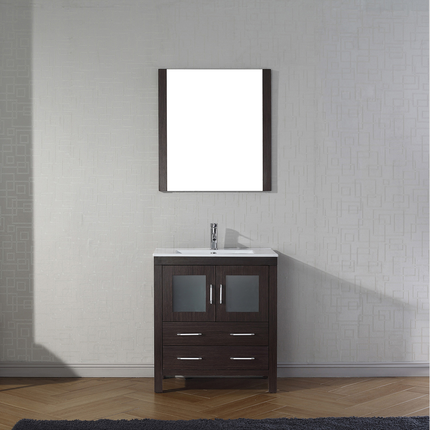 "30"" Cabinet Only in Espresso with Top, Faucet, Mirror and Sink Options"