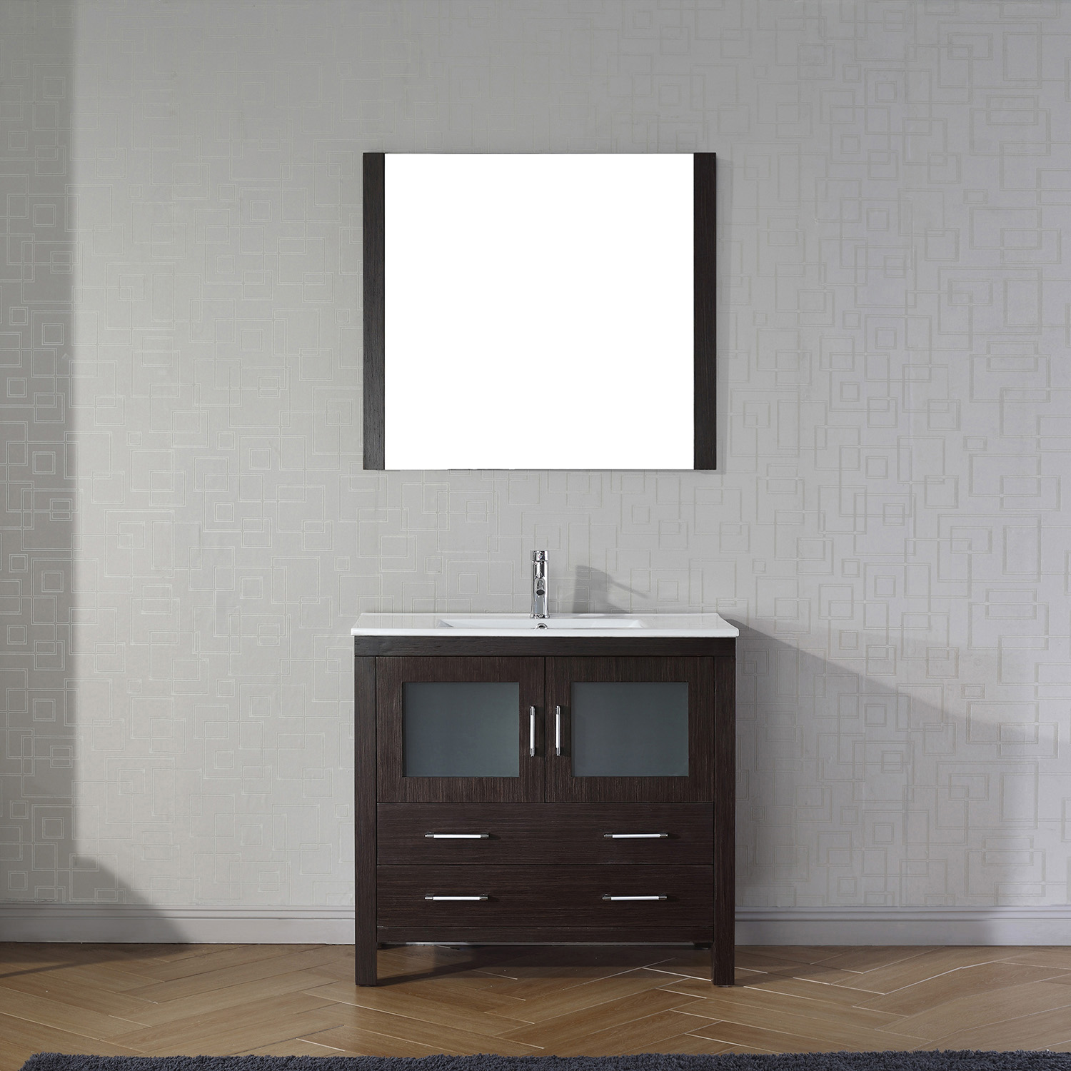 "36"" Cabinet Only in Espresso with Top, Faucet, Mirror and Sink Options"