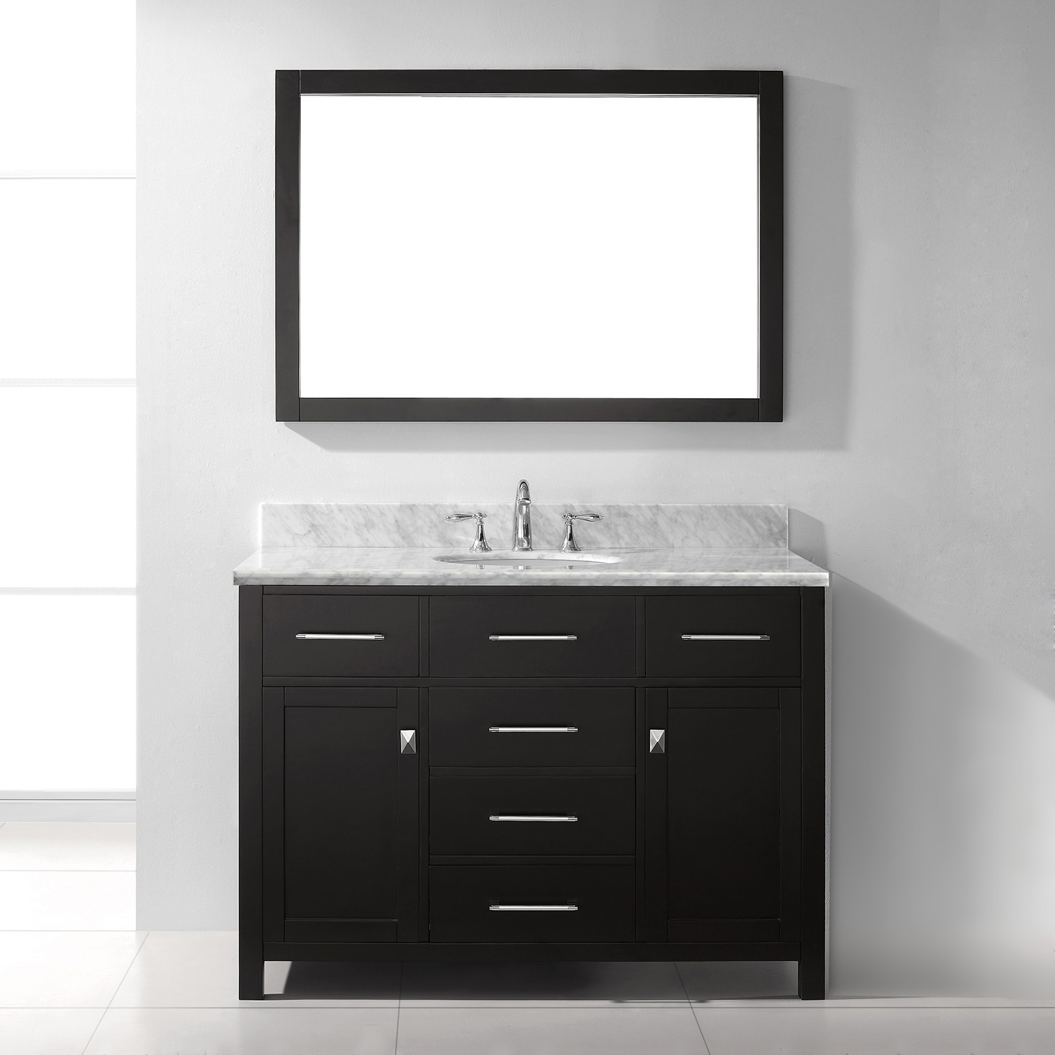 "48"" Cabinet Only in Espresso with Top, Mirror and Faucet Options"