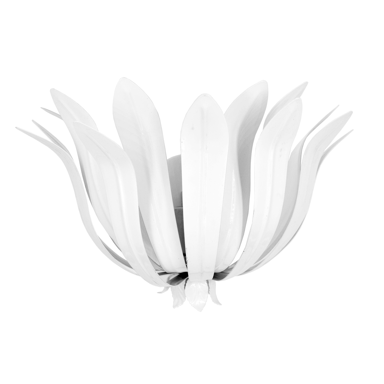 Leaf Sconce in White Powder Coat