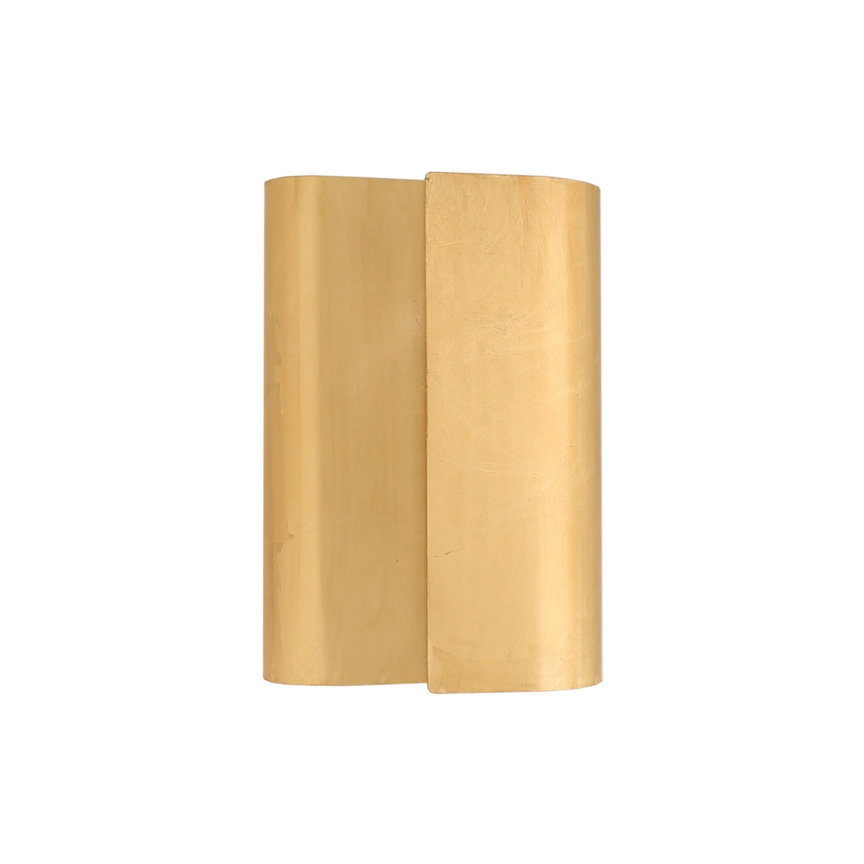 Sculptural Metal Wall Sconce in Gold Leaf