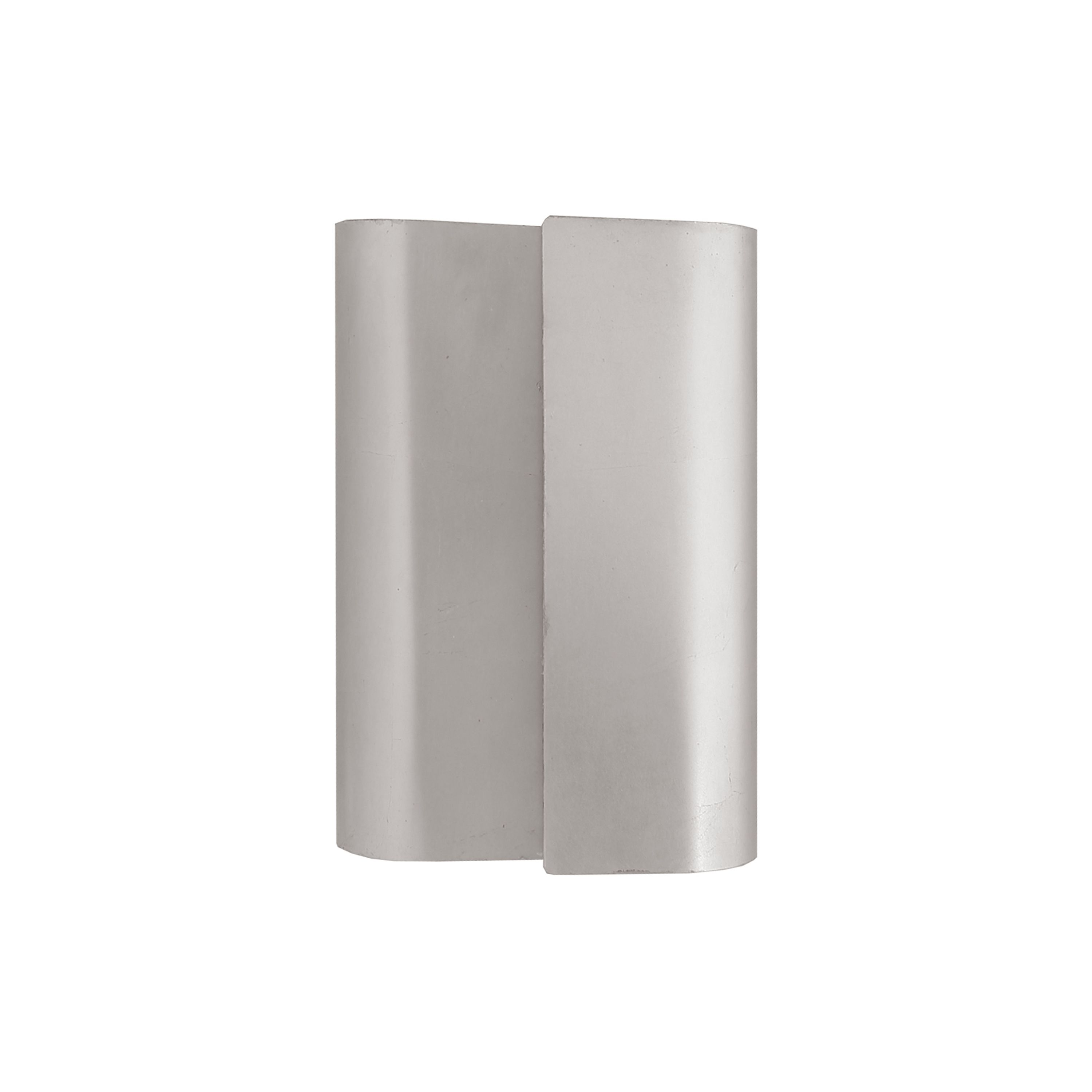 Sculptural Metal Wall Sconce in Silver Leaf
