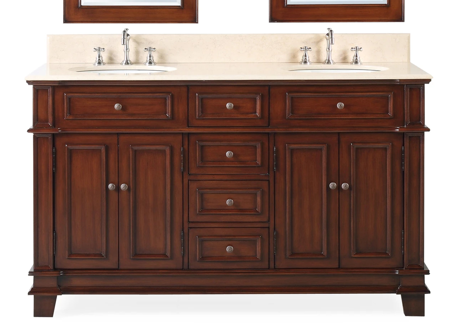 "60"" Timeless Classic Double Sink Bathroom Vanity"