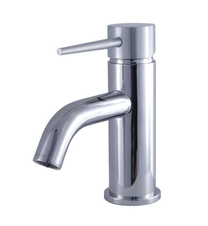 "New York 6"" Single Metal Lever Handle Single Hole Bathroom Sink Faucet with Push-Up Pop-Up Drain"