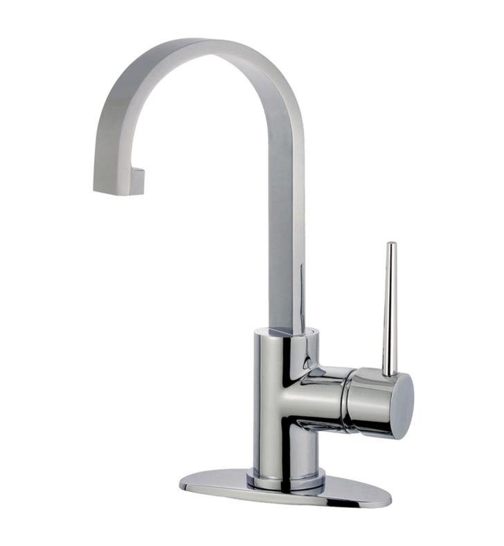 "New York 11 3/4"" Single Lever Handle Single Hole Bathroom Sink Faucet with Push-Up Pop-Up Drain"