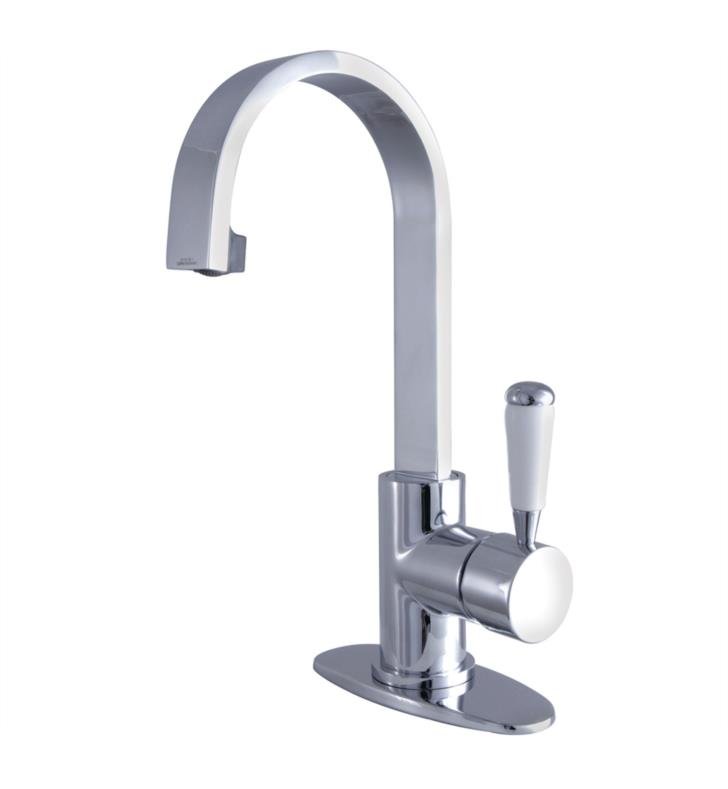 "Paris 11 5/8"" Single Lever Handle Single Hole Bathroom Sink Faucet with Pop-Up Drain"