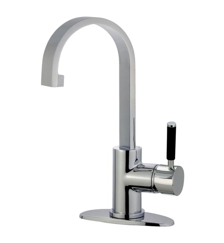 "Kaiser 8 5/8"" Single Lever Handle Single Hole Bathroom Sink Faucet with Pop-Up Drain"