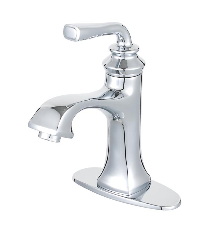 "Restoration 8 5/8"" Single Lever Handle Single Hole Bathroom Sink Faucet with Pop-Up Drain"