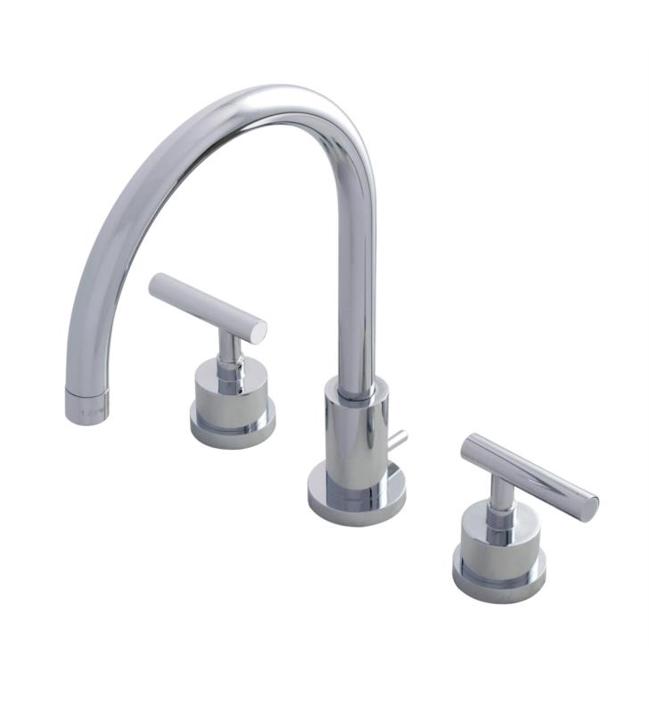 "Manhattan 11 5/8"" Double Lever Handle Widespread Bathroom Sink Faucet with Pop-Up Drain"