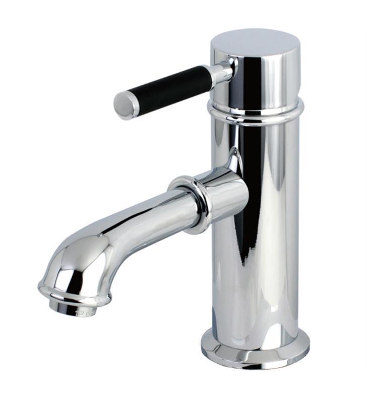 "Kaiser 6 1/2"" Single Lever Handle Single Hole Bathroom Sink Faucet with Pop-Up Drain"