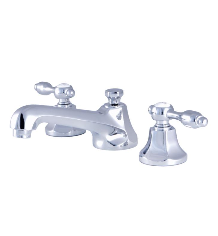"Tudor 3"" Double Metal Lever Handle Widespread Bathroom Sink Faucet with Pop-Up Drain"