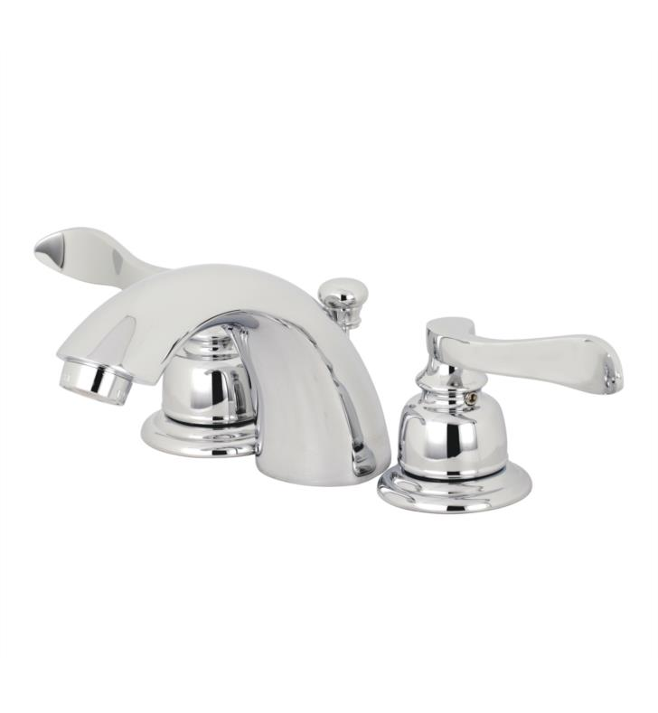 "NuWave French 3 1/2"" Double Metal Lever Handle Mini - Widespread Bathroom Sink Faucet with Pop-Up Drain"