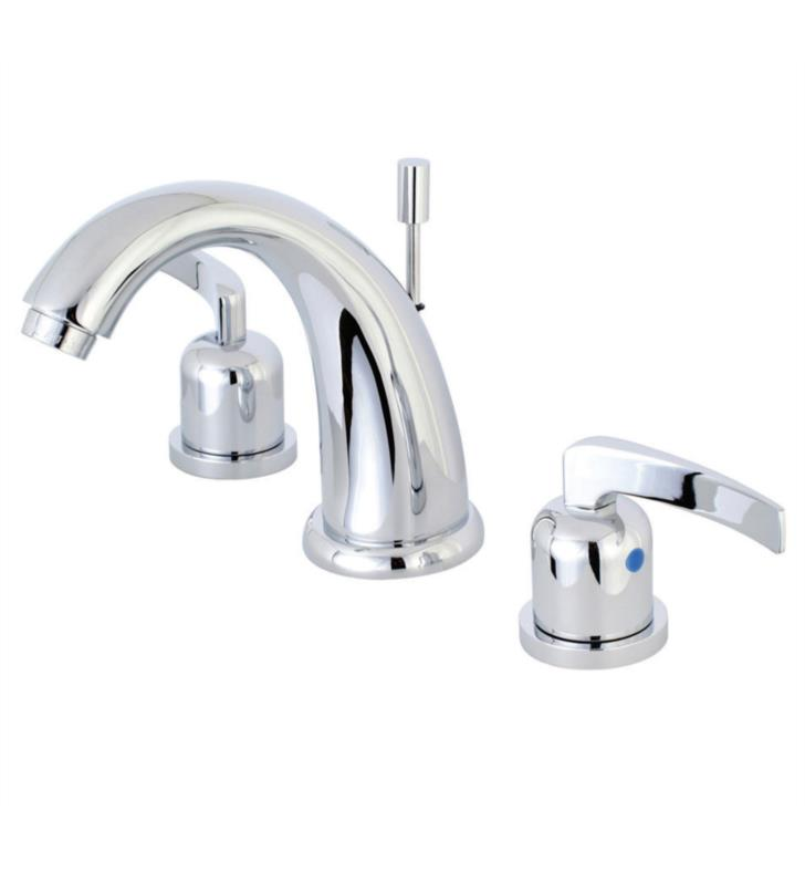 "Centurion 5 3/4"" Double Metal Lever Handle Widespread Bathroom Sink Faucet with Pop-Up Drain"