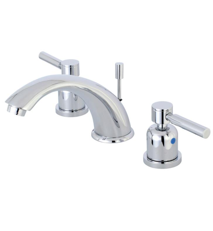 "Concord 4 1/8"" Double Metal Lever Handle Widespread Bathroom Sink Faucet with Pop-Up Drain"