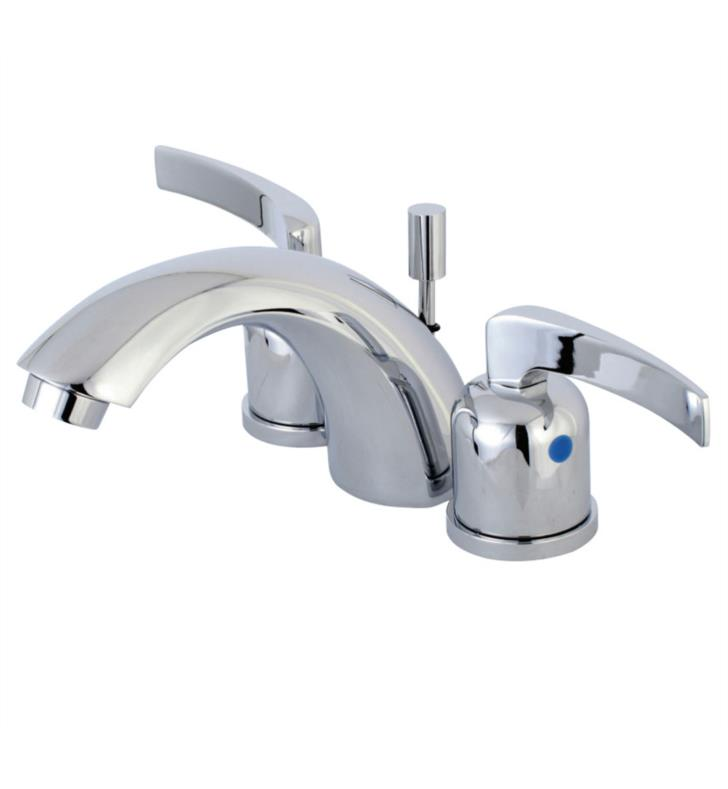 "Centurion 3 3/8"" Double Metal Lever Handle Mini - Widespread Bathroom Sink Faucet with Pop-Up Drain"