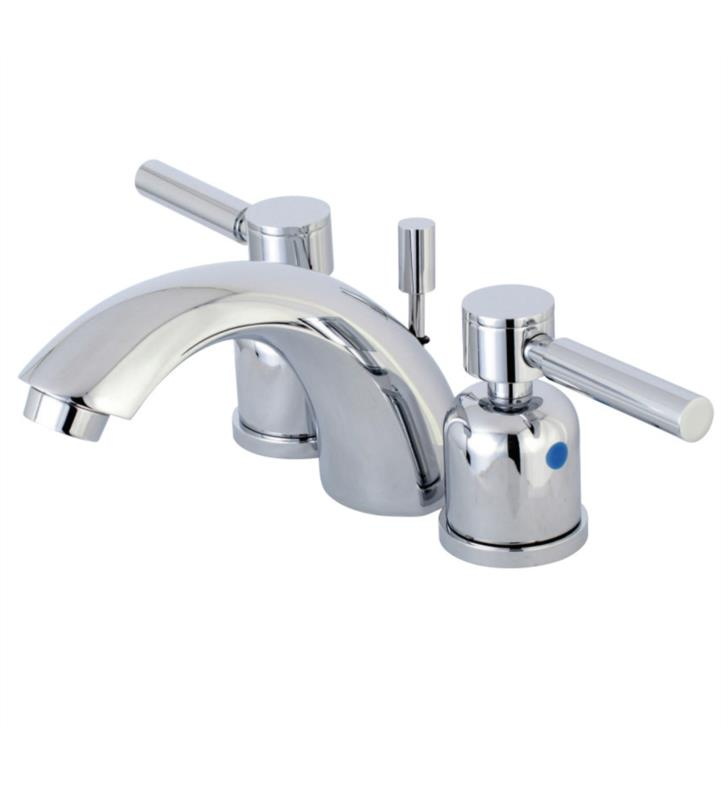 "Concord 3 3/8"" Double Metal Lever Handle Mini - Widespread Bathroom Sink Faucet with Pop-Up Drain"