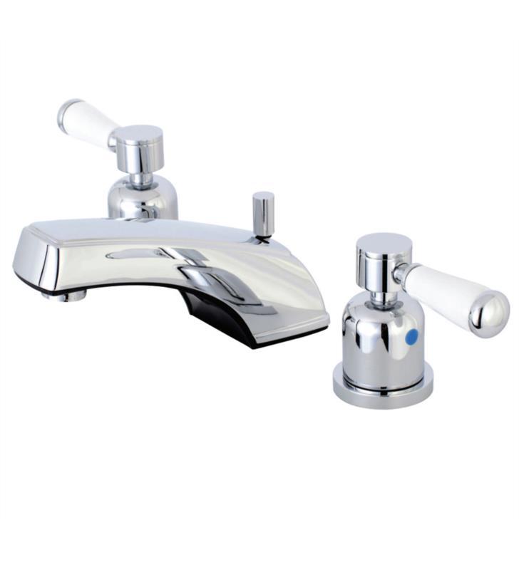 "Paris 3 1/4"" Double Metal Lever Handle Widespread Bathroom Sink Faucet with Pop-Up Drain"