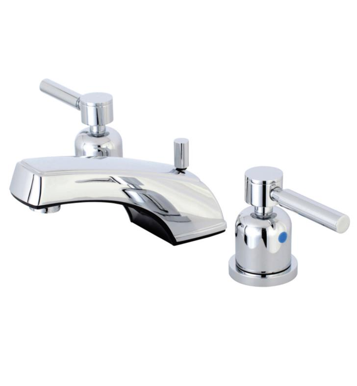 "Concord 3 1/4"" Double Lever Metal Handle Widespread Bathroom Sink Faucet with Pop-Up Drain"