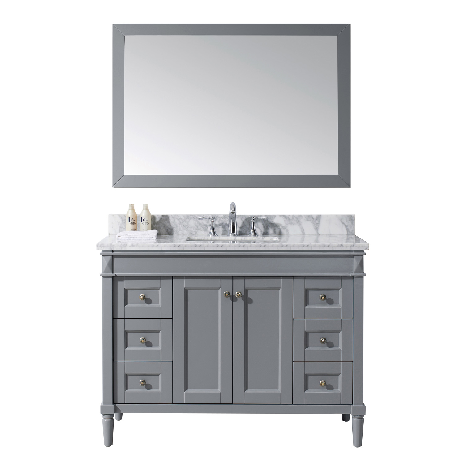 "48"" Cabinet Only in Grey with Top, Sink and Mirror Options"