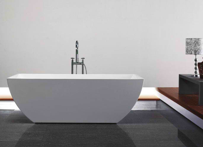 Whirlpools 30 x 67 Rectangle Acrylic Freestanding Bathtub