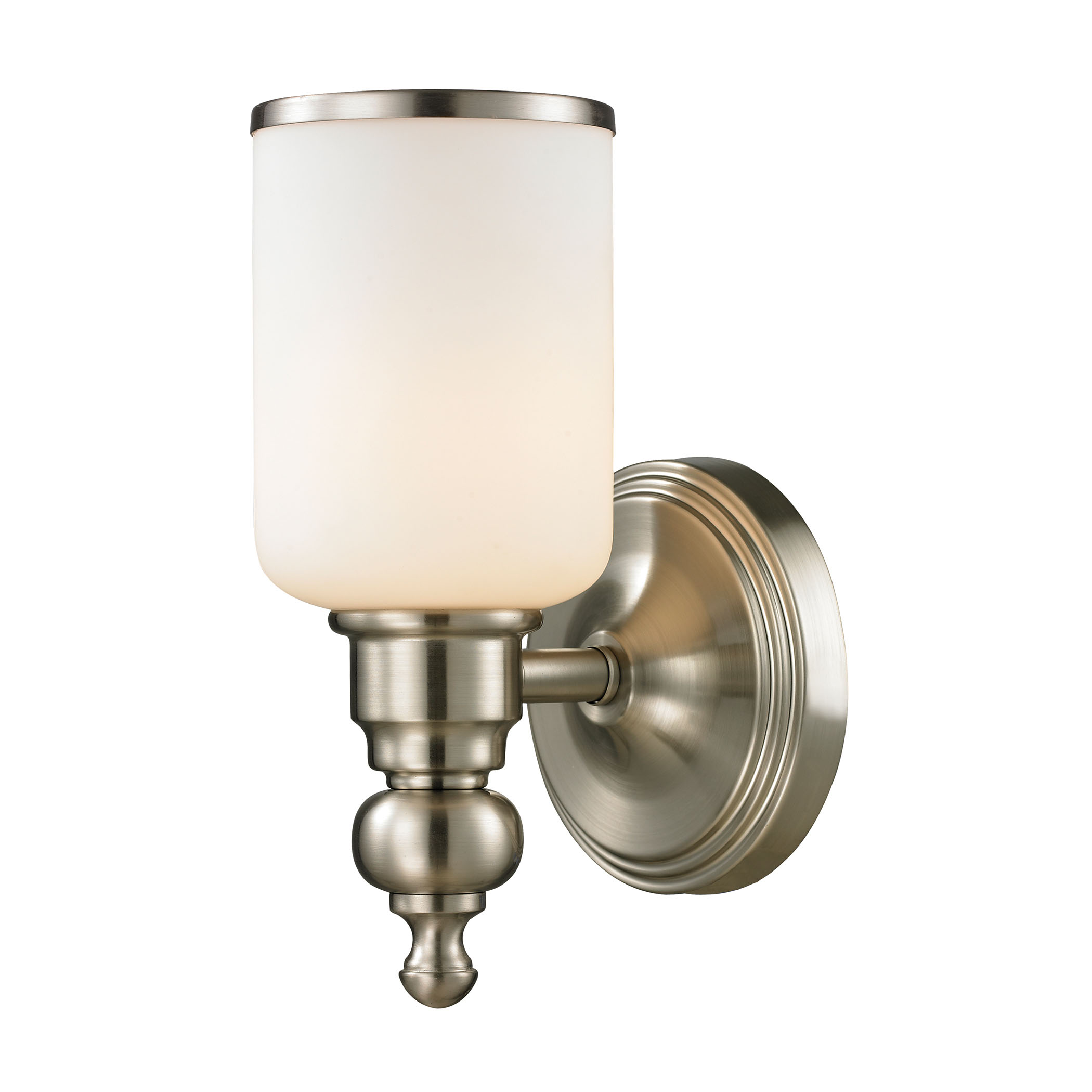 Bristol Collection 1 Light Bath in Brushed Nickel