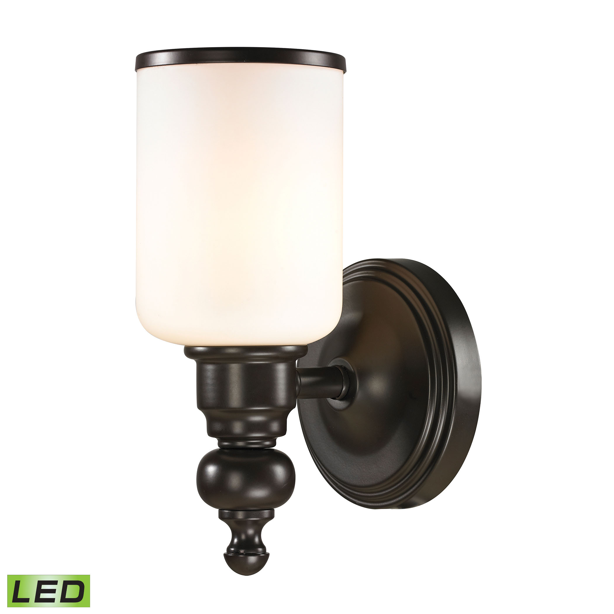 Bristol Collection 1 light bath in Oil Rubbed Bronze - LED Offering Up To 800 Lumens (60 Watt Equivalent)