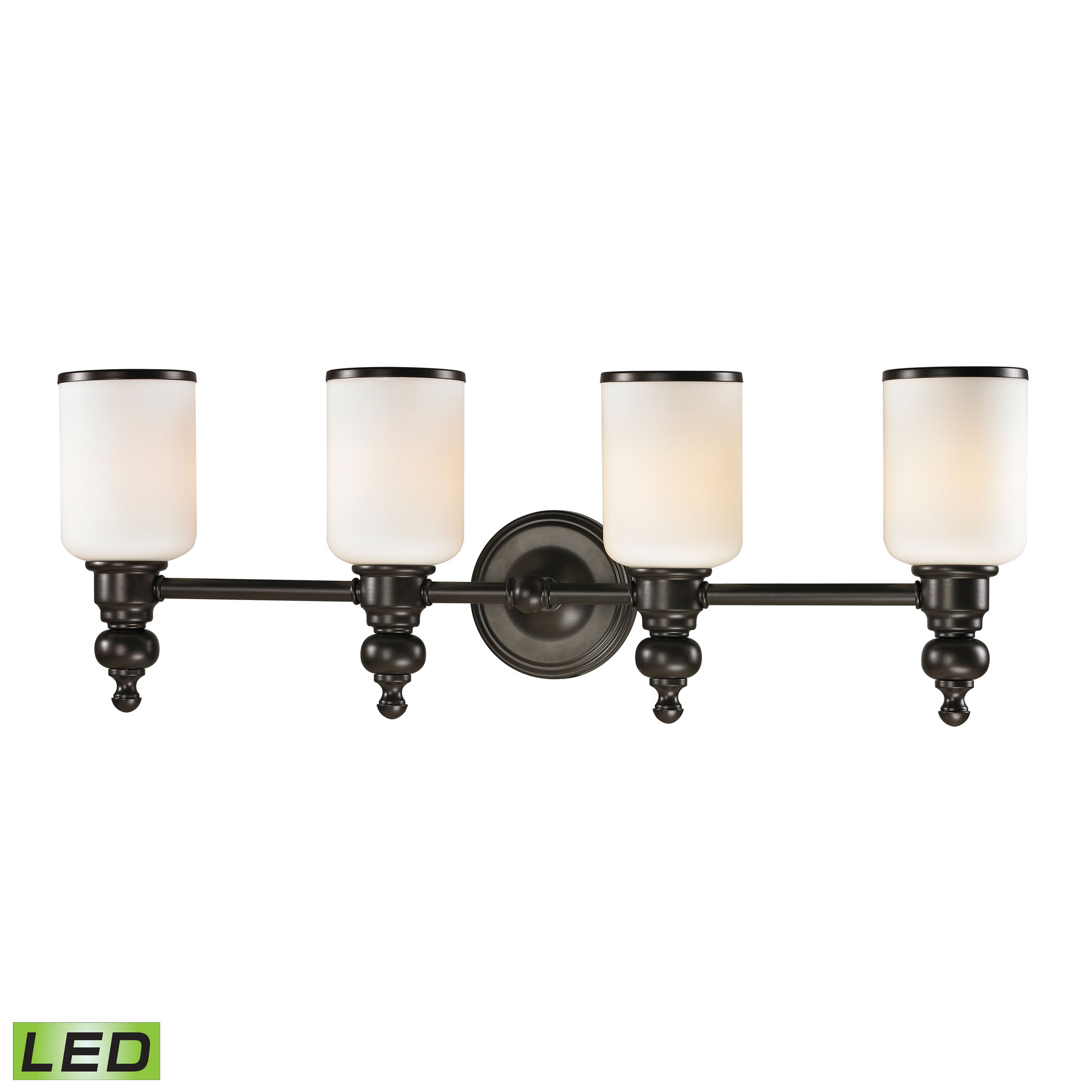 Bristol Collection 4 Light Bath in Oil Rubbed Bronze - LED, 800 Lumens (3200 Lumens Total) with Full
