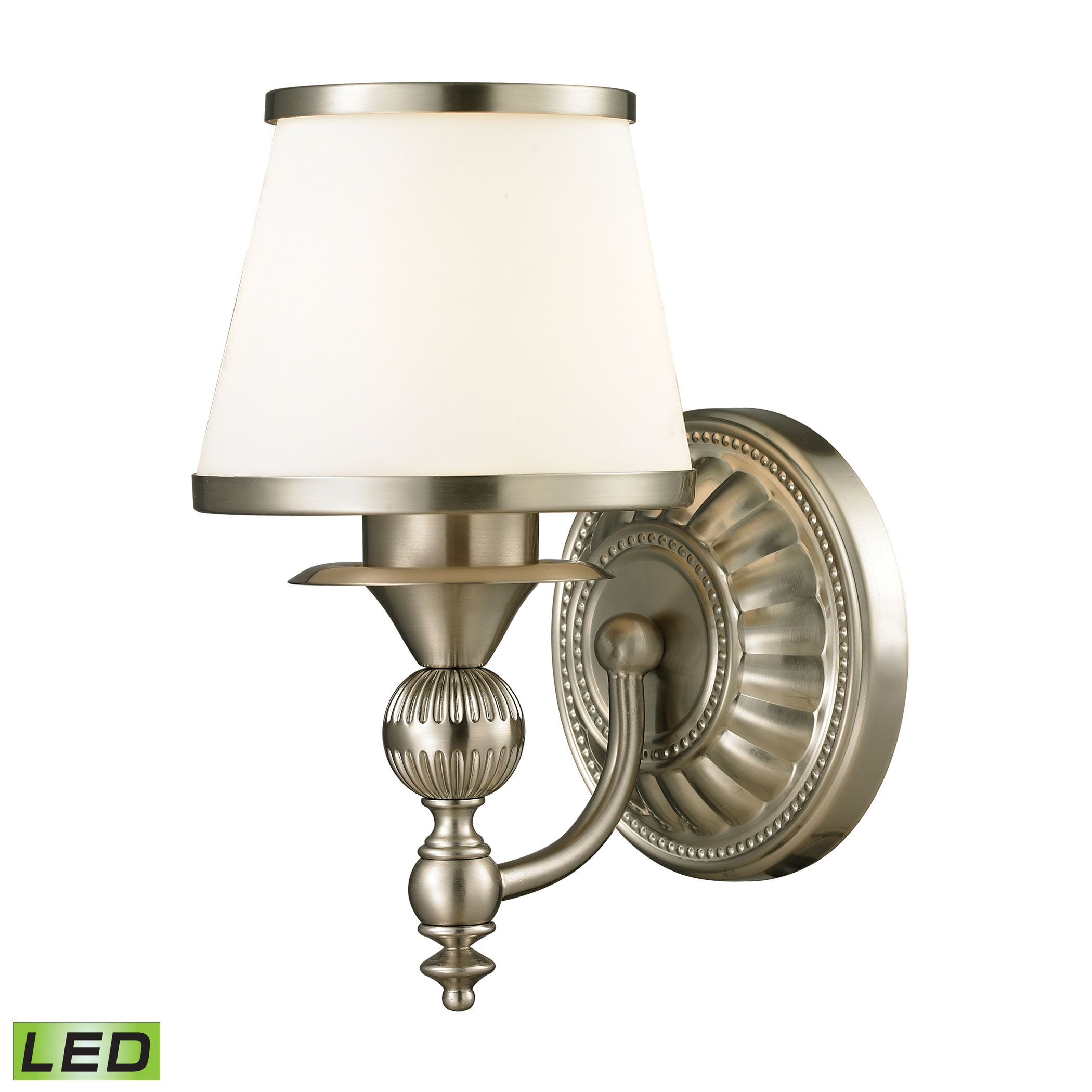 Smithfield Collection 1 Light Bath in Brushed Nickel - LED Offering Up To 800 Lumens (60 Watt Equivalent)