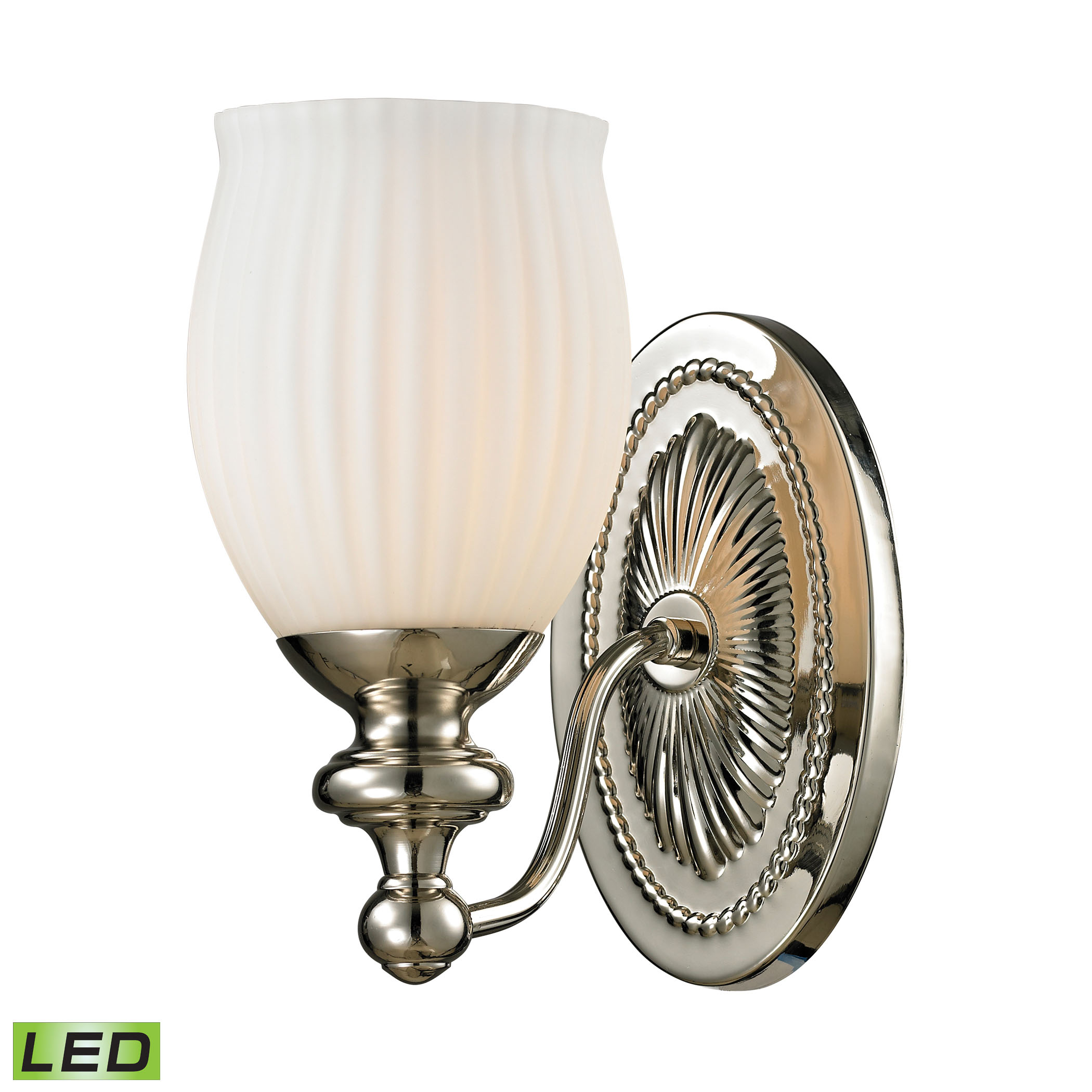 Park Ridge Collection 1 Light Bath in Polished Nickel - LED Offering Up To 800 Lumens (60 Watt Equivalent)