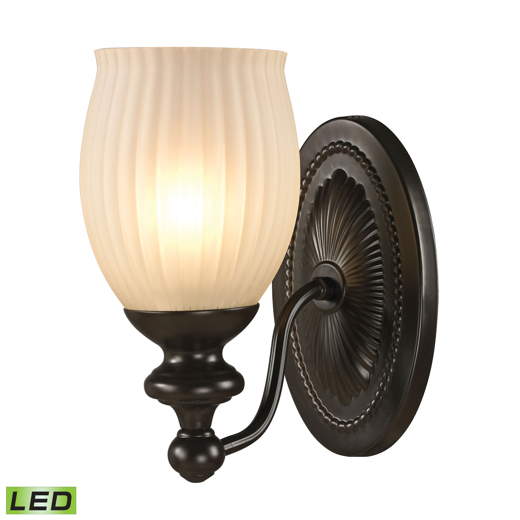 Park Ridge Collection 1 Light Bath in Oil Rubbed Bronze - LED Offering Up To 800 Lumens (60 Watt Equivalent)
