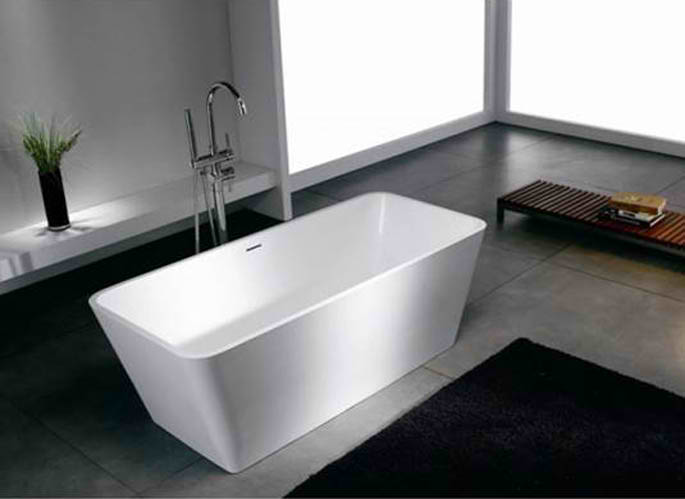 Whirlpools 27 x 60 Artificial Stone Freestanding Bathtub