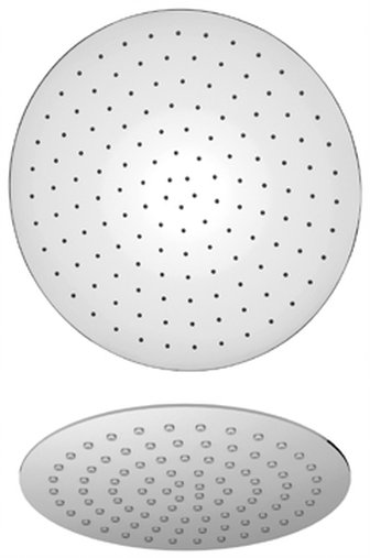 """10"""" Round Stainless Steel Shower Head in Chrome"""