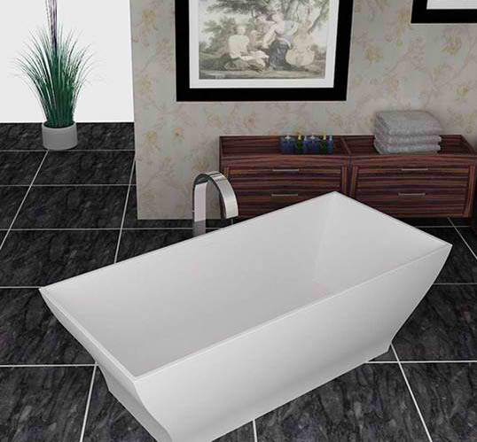 Whirlpools 32 x 71 Artificial Stone Freestanding Bathtub in Matte White