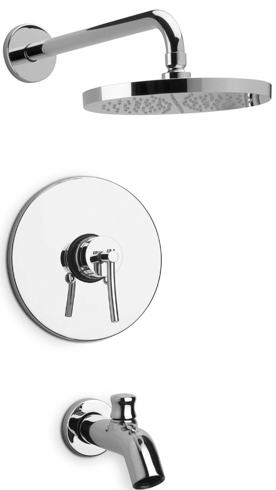 Pressure Balance Shower Set in 2 Color Options