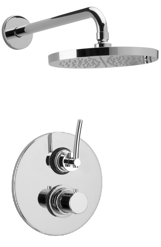 "Thermostatic Shower With 3/4"" Ceramic Disc Volume Control in Chrome"