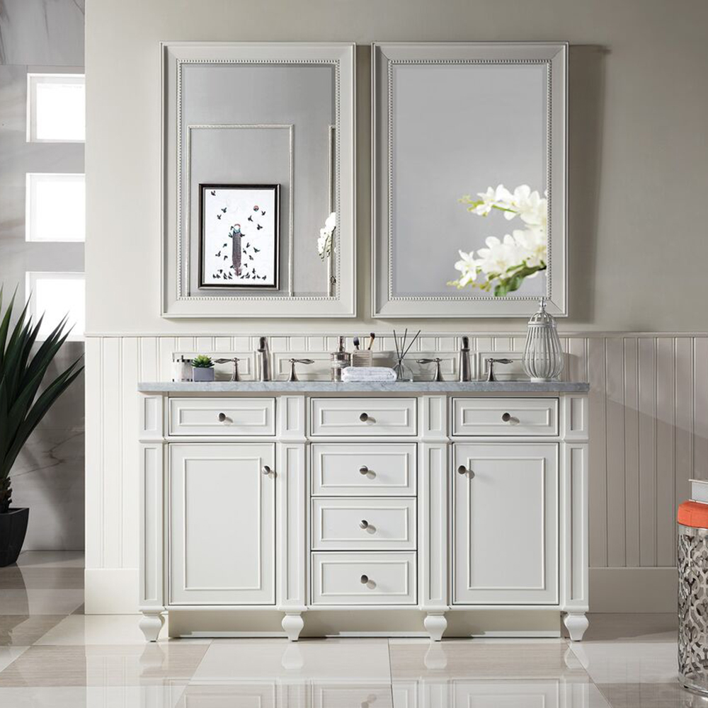 "James Martin Bristol Collection 60"" Double Vanity, Cottage White"