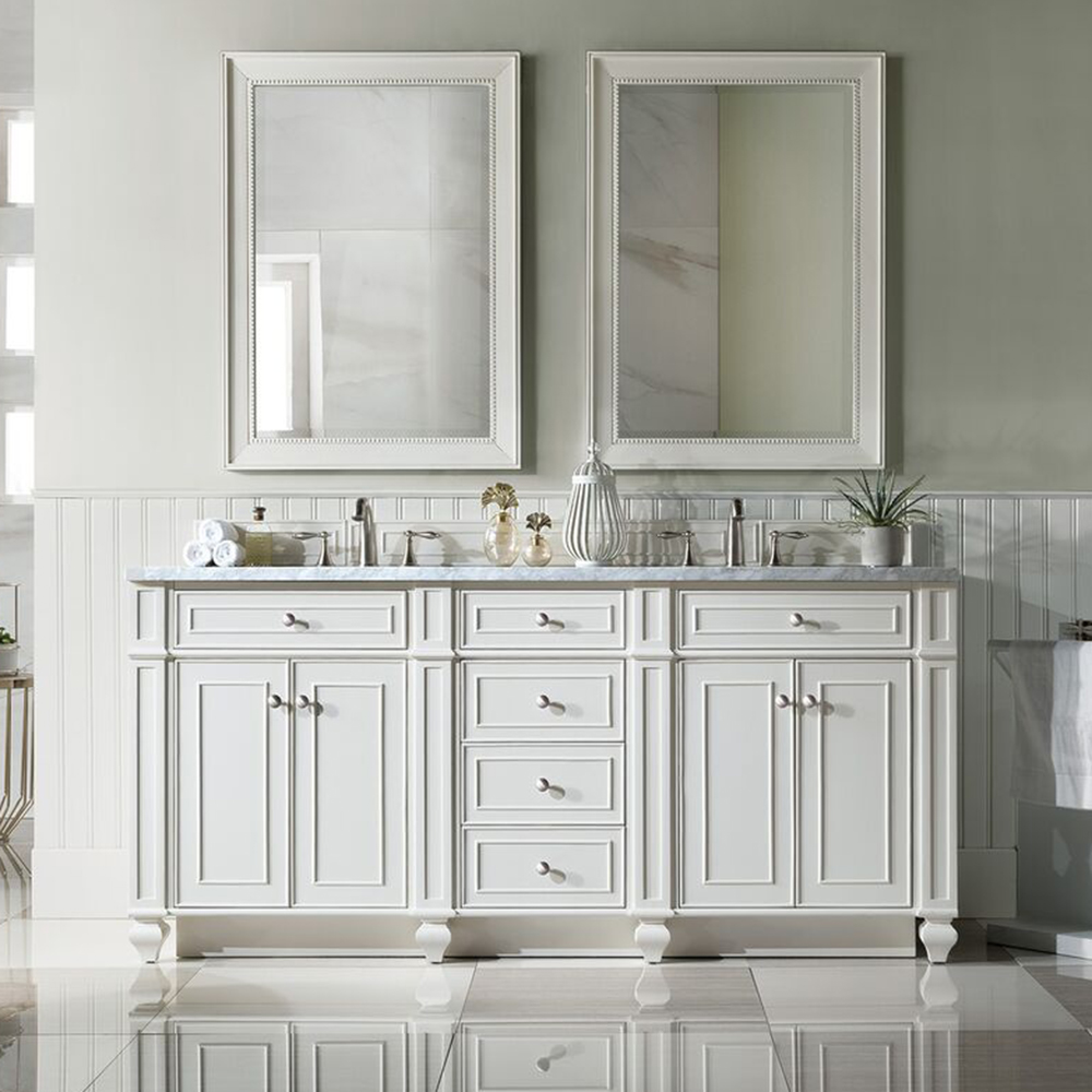 "James Martin Bristol Collection 72"" Double Vanity, Cottage White Finish"