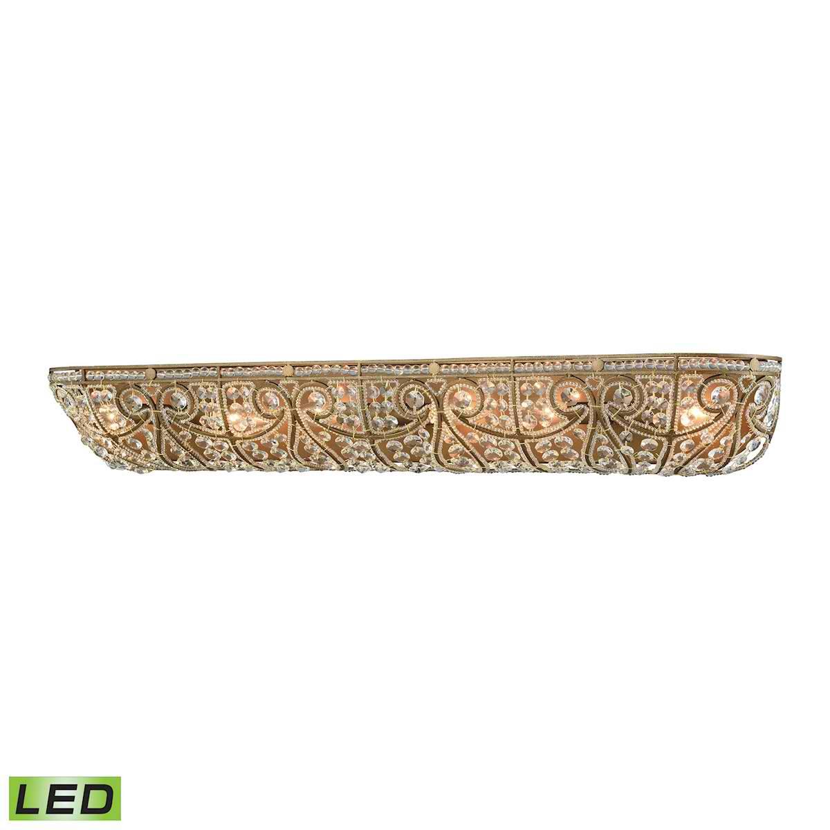 Elizabethan 6 Light LED Vanity in Dark Bronze