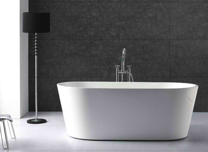 Whirlpools 32 x 67 Oval Acrylic Freestanding Bathtub